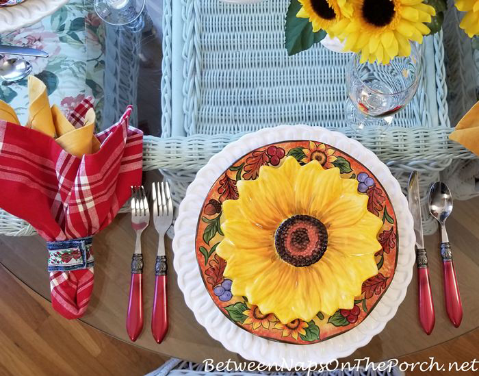 Summer Place Setting, Sunflower Plates