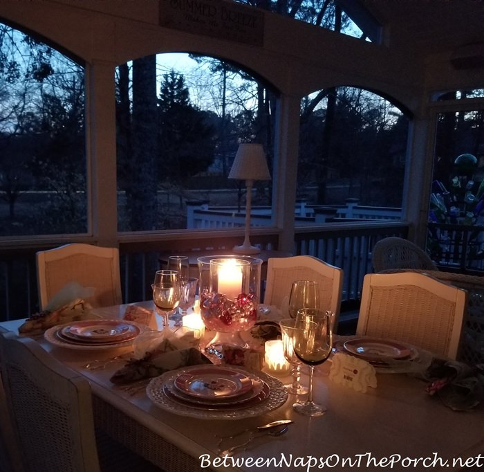Valentine's Day Table by Candlelight