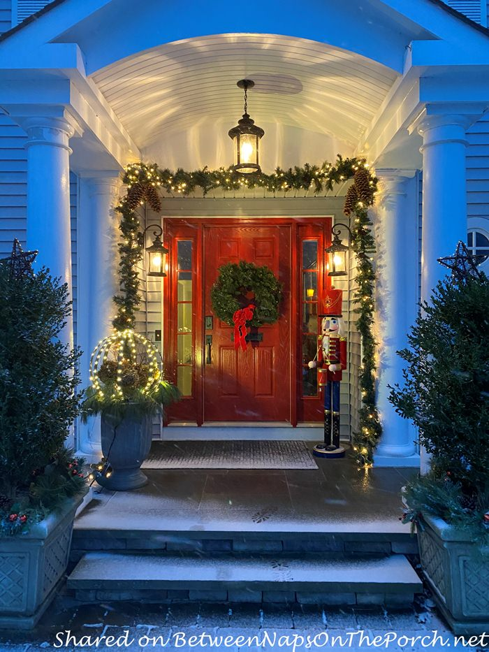 Add a Porch to Front of Home, Christmas Porch