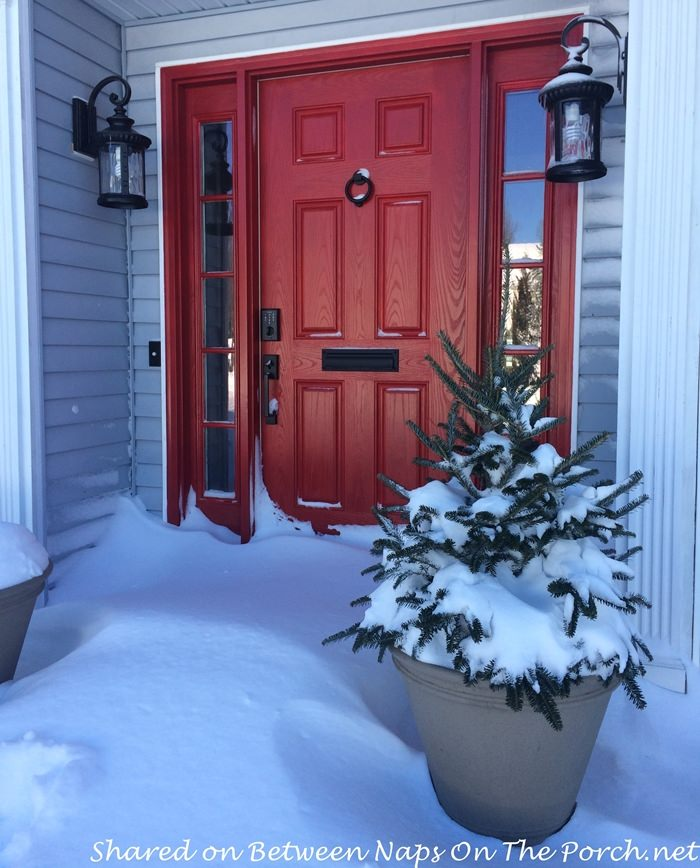 Before Porch Added, Snow against door