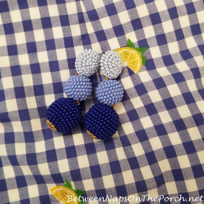 Blue Ombre Bon Bon Earrings