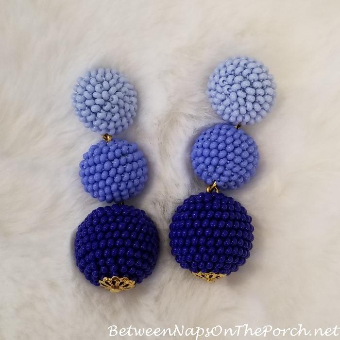Bon Bon Drop Earrings, Ombre Blue
