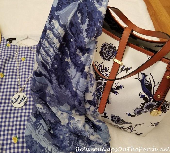 Brahmin Blue Delft Bag