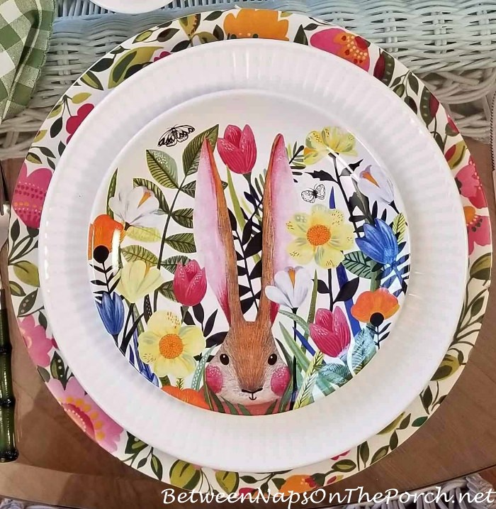 Bunny Floral Salad Plates