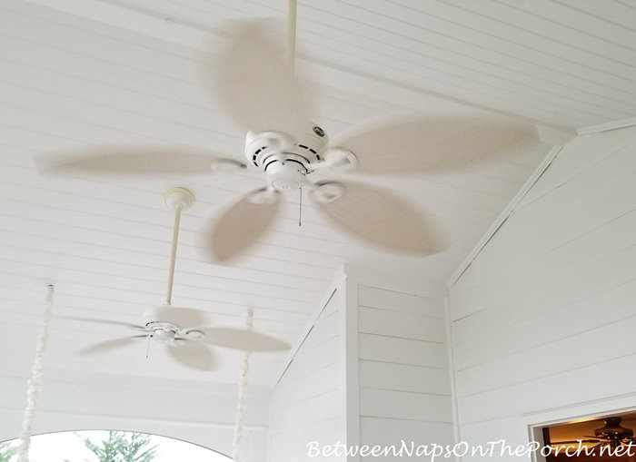 Ceiling Fans on Screened Porch, Spring