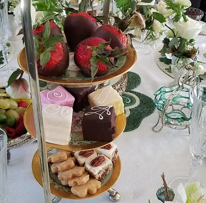 Chocolate Covered Strawberries, Tea Cakes, Desserts for Tea Party