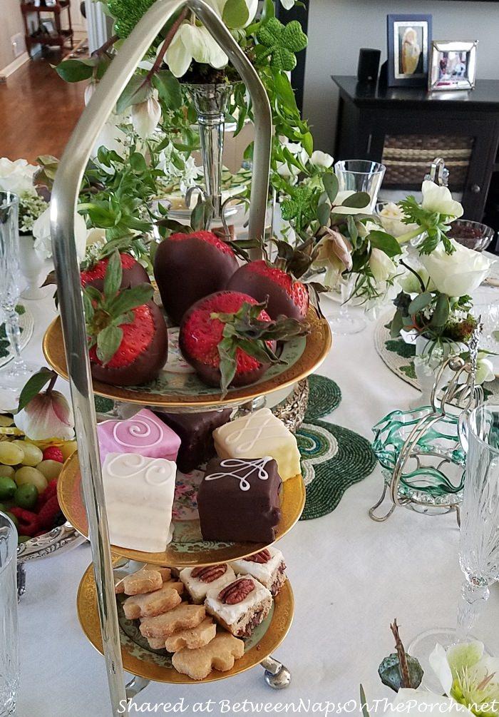 Chocolate Covered Strawberries, Tea Cakes