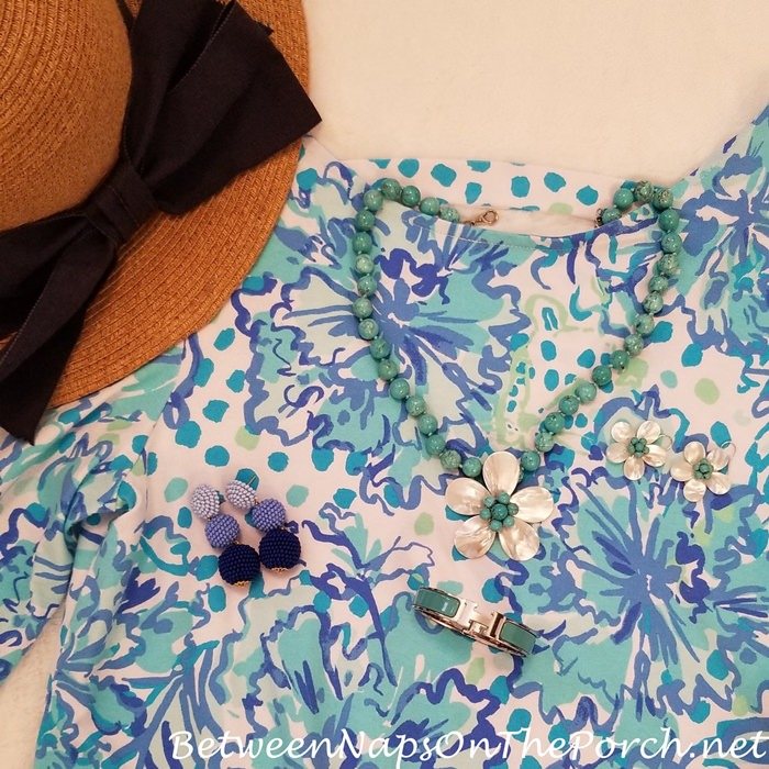 Coordinating Jewelry to Lilly Pulitzer Dress