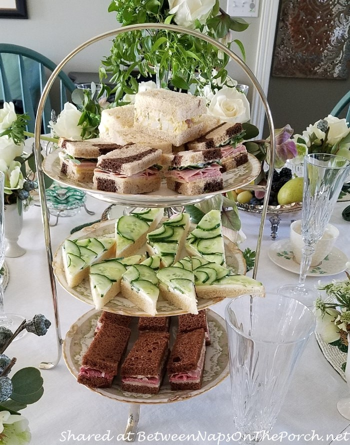 Cucumber & Cream Cheese Sandwiches, Smoked Salmon, Egg Salad, Tea Party Food