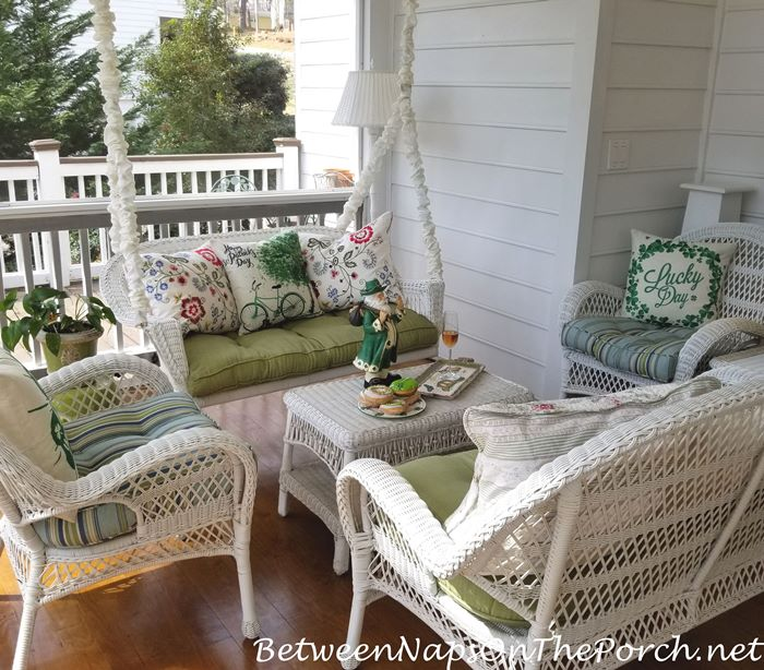 Decorate Porch for St. Patrick's Day