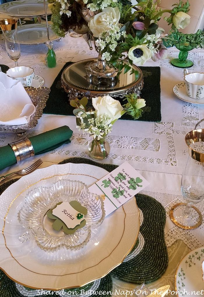 Lovely St. Patrick's Day Table Setting
