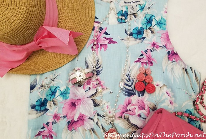 Pink Bow Hat, Floral Tommy Bahama Dress