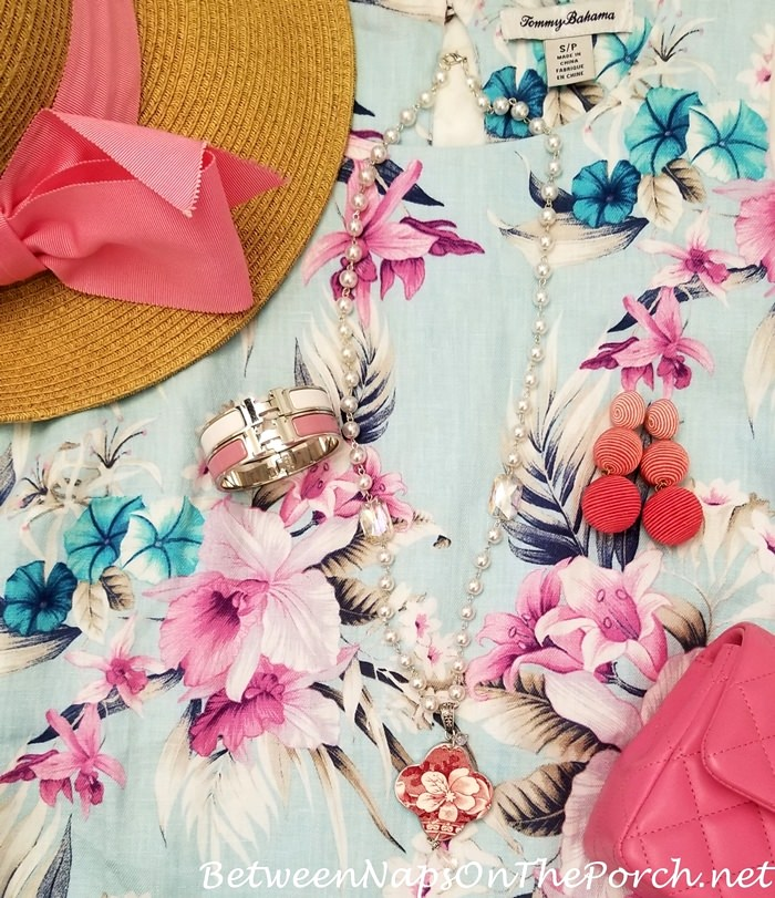Pretty Floral Dress for Spring Summer, Accessories