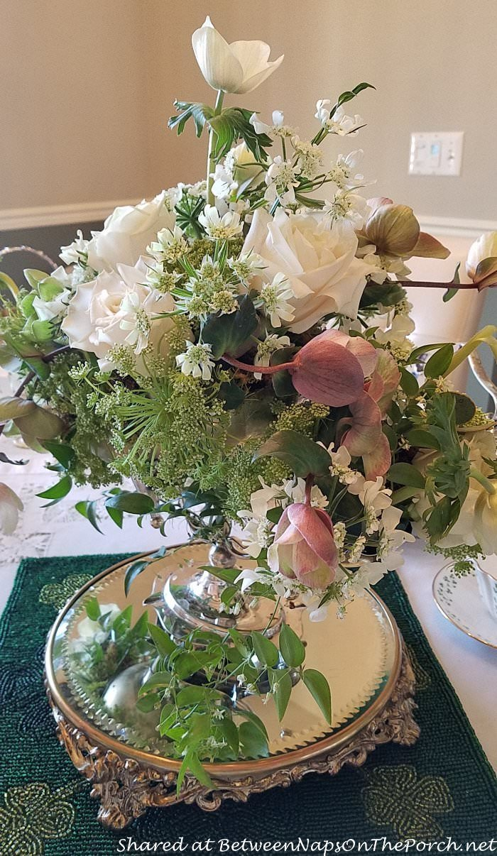 Rose Centerpiece, St. Patrick's Day Table