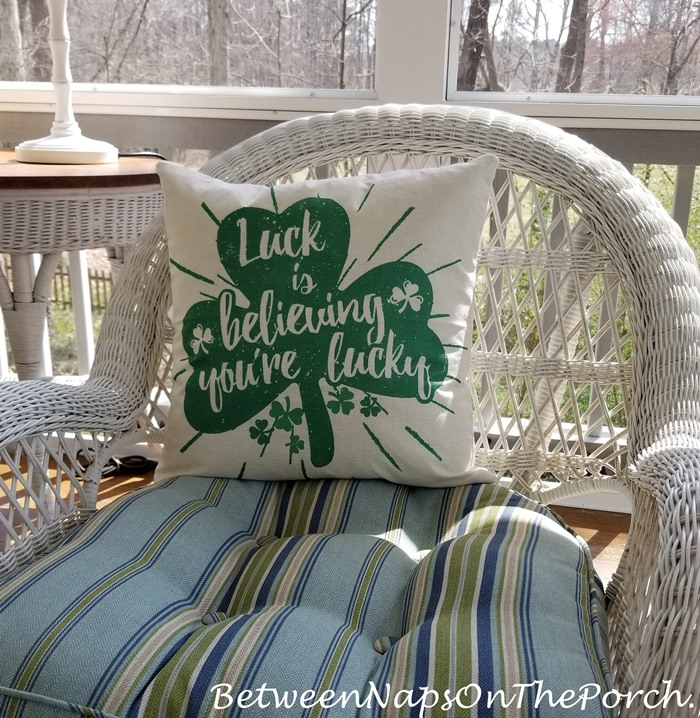 St. Patrick's Day Pillow, Luck is Believing You're Lucky