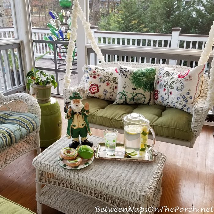 St. Patrick's Day Screened Porch, Porch Swing