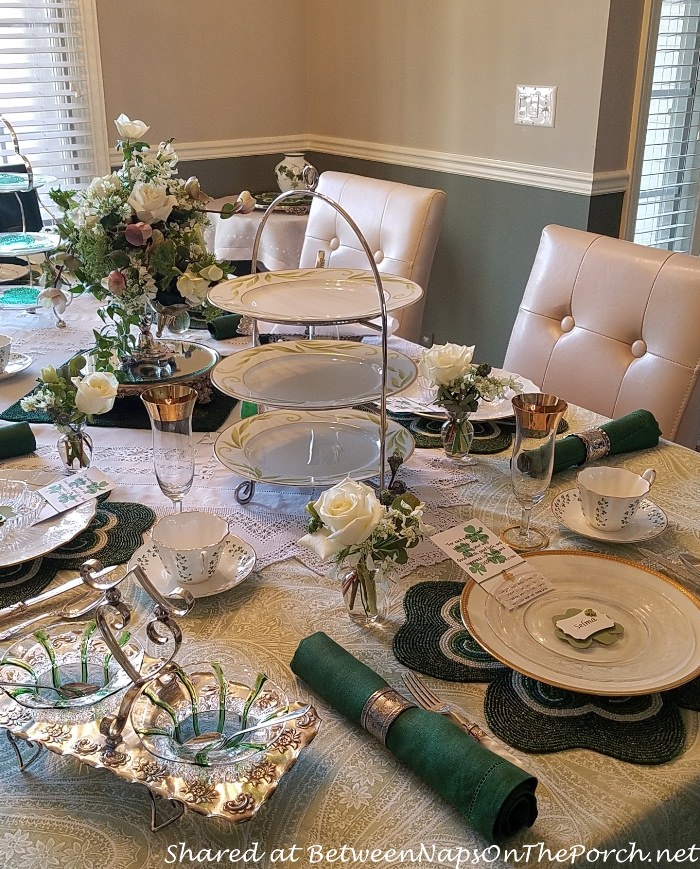 St. Patrick's Day Table, Tiered Server