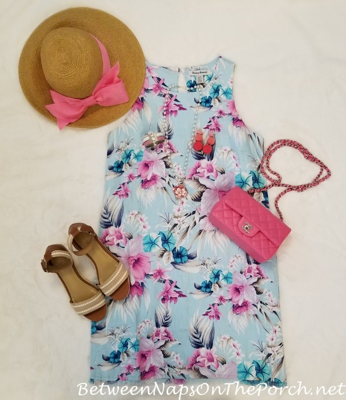 Tommy Bahama Dress with Pink Chanel Bag