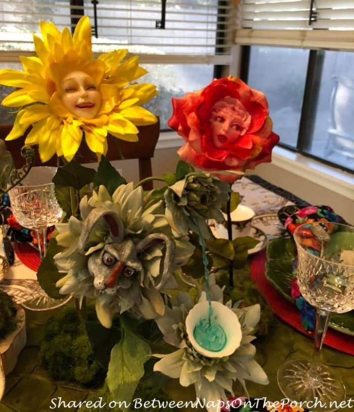 Alice in Wonderland, Talking Flowers, Rosy Petals, Tickled Tink