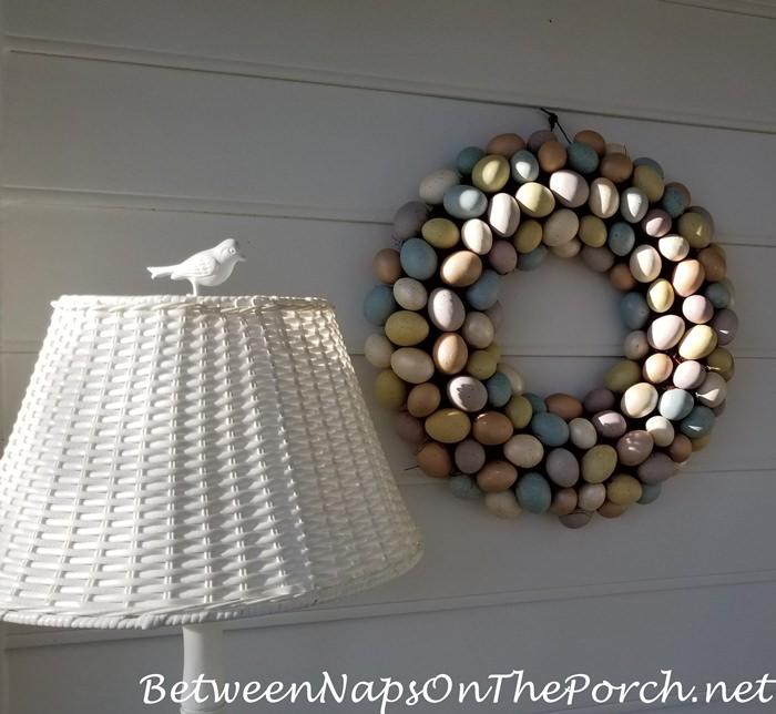 Birdie Lamp, Easter Egg Wreath