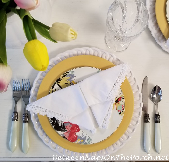 Butterfly Napkin Fold in Spring Table