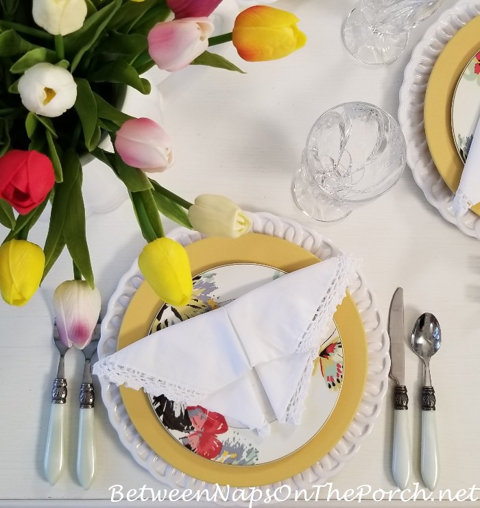 Butterfly Napkin, Spring Summer Table