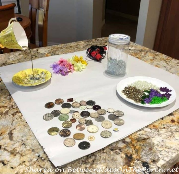 Everything you need for making Alice in Wonderland Floating Teacups, Tutorial