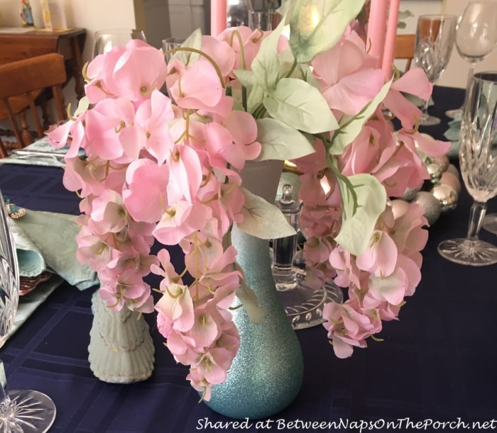 Floral Centerpiece for Spring Easter Table Setting