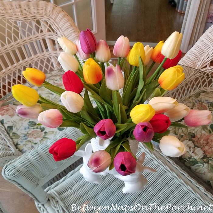 Realistic Faux Tulips