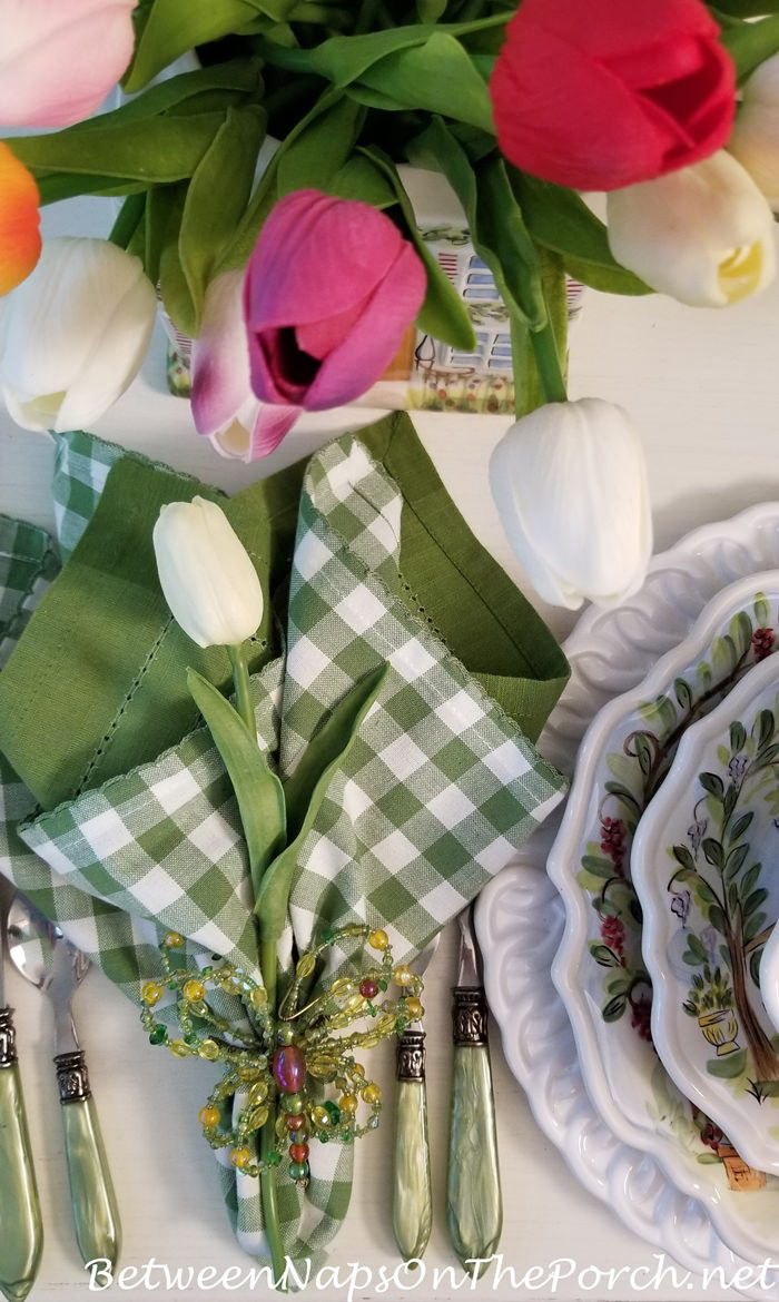 Spring Table, Butterfly Napkin Rings