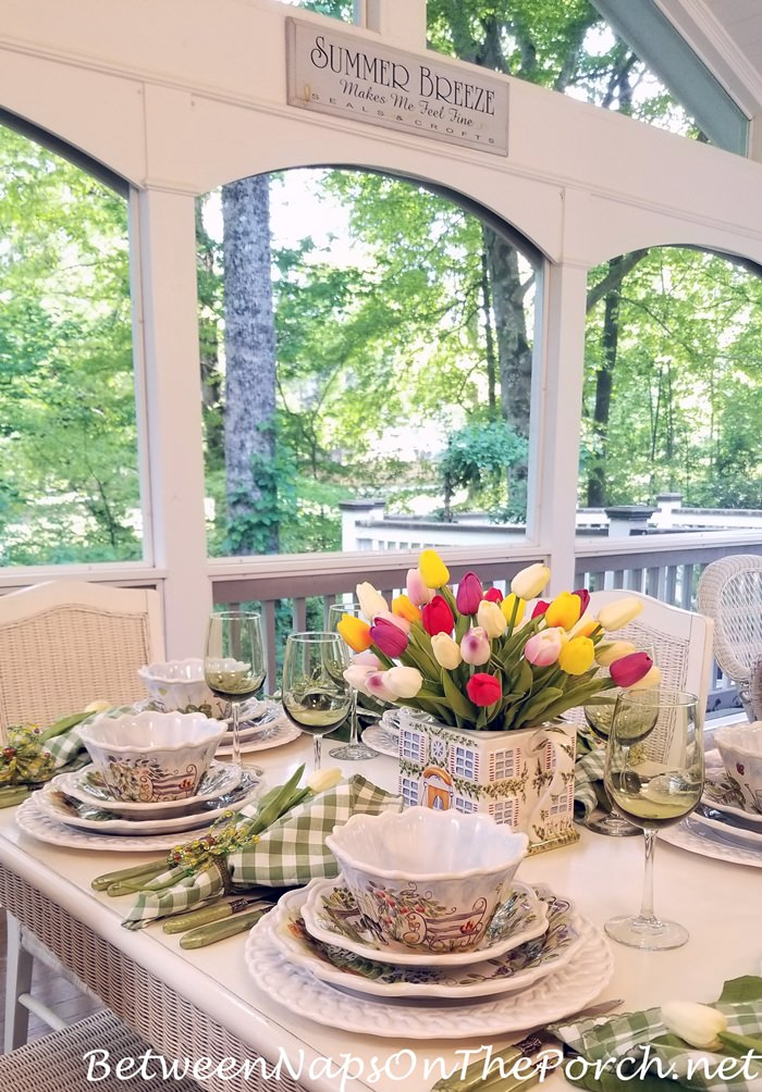 Spring Table with Tulips