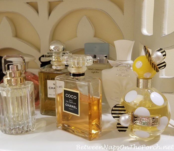Chanel Coco, Creed Love in White, Cartier Carat, Marc Jacob Honey, Dolce & Gabbana Light Blue Perfumes