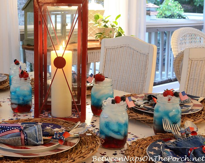 Red, White and Blue Punch for Memorial Day and 4th of July