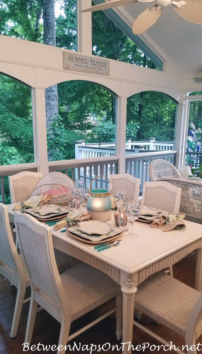 Screen Porch Dining for Spring and Summer