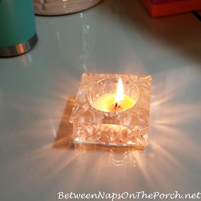 Using up the last bit of a candle