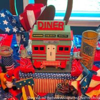 All American Diner, 4th of July Table Setting