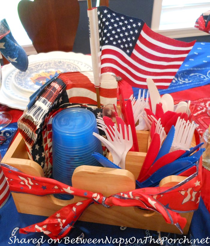 Flatware Holder for 4th of July Entertaining