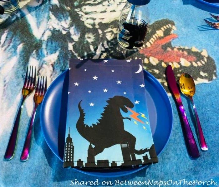 Godzilla Plates for Godzilla themed Table