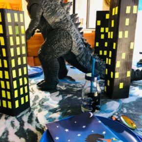 Godzilla Themed Table Setting