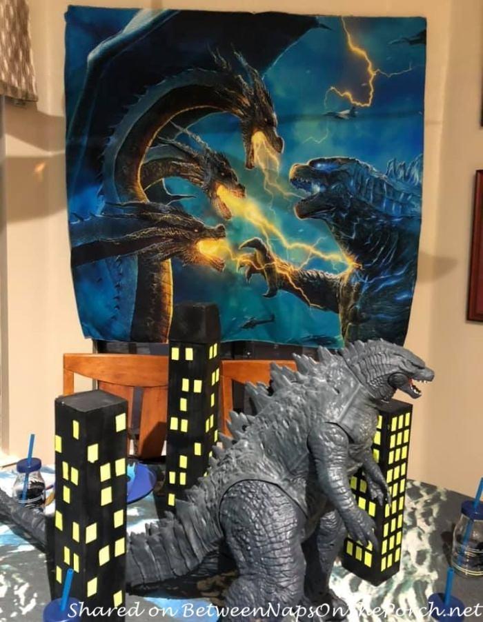 Godzilla Themed Table Setting, Godzilla Poster