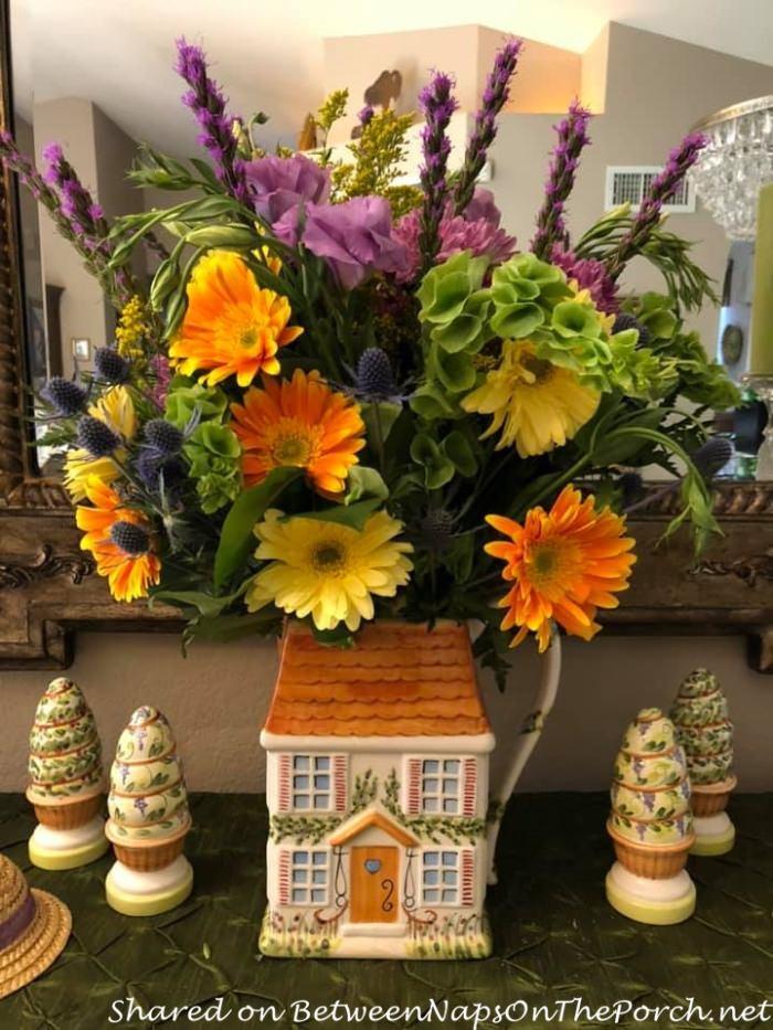 Ma Maison flowers on buffet