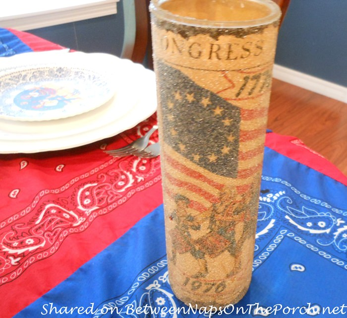 Patriotic Candle, 4th of July Party