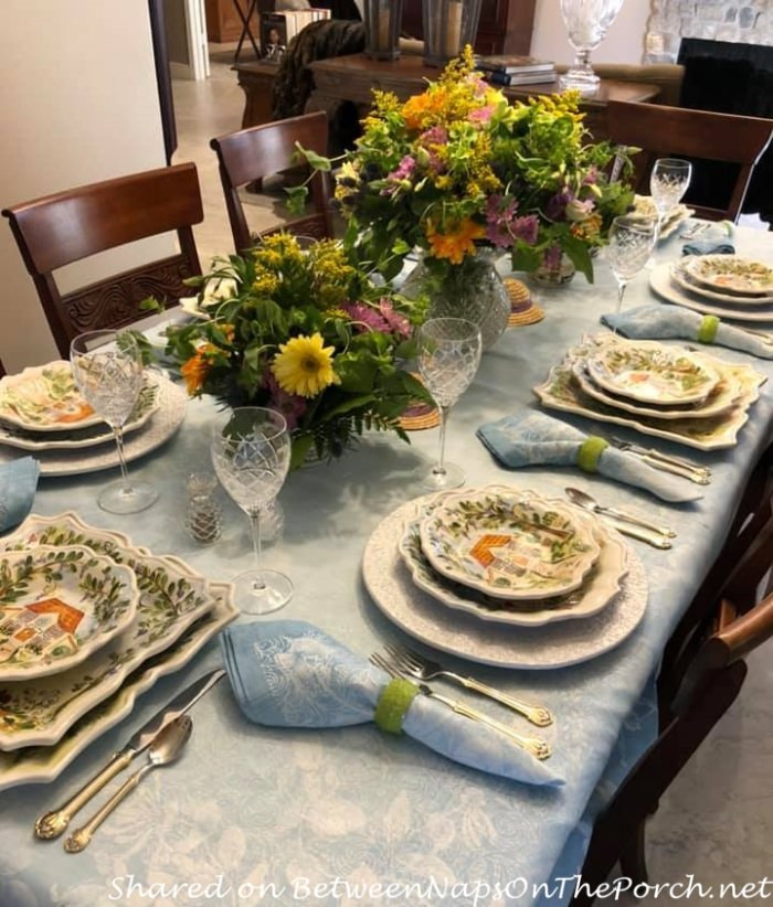Spring Table for Mother's Day, Ma Maison Dinnerware, Darrio Farrucci