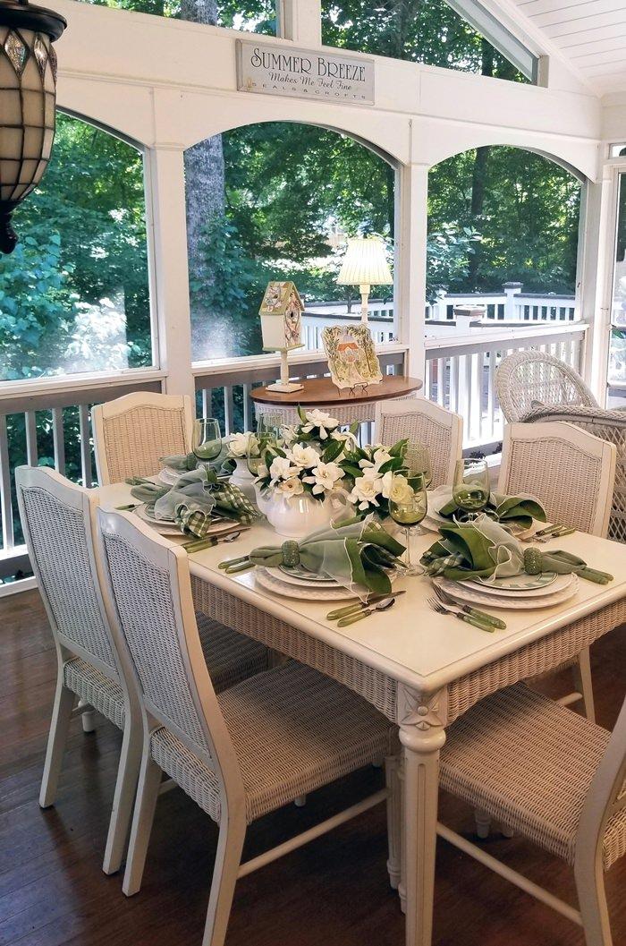 Tablescape Thursday, Porch Dining
