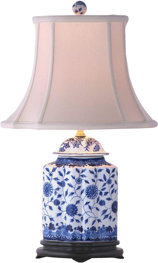 Beautiful Blue and White Lamp