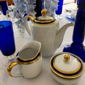 Beautiful China in Blue and Gold, From Germany