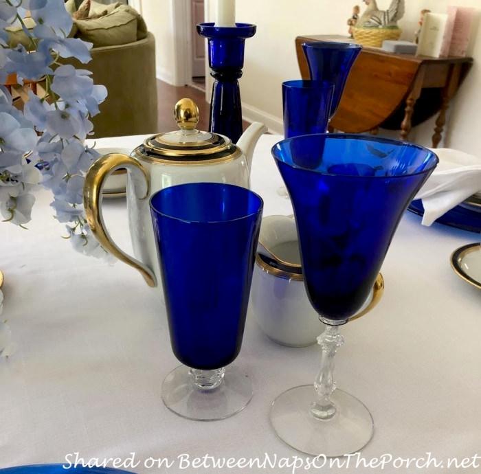 Cobalt Blue Stemware