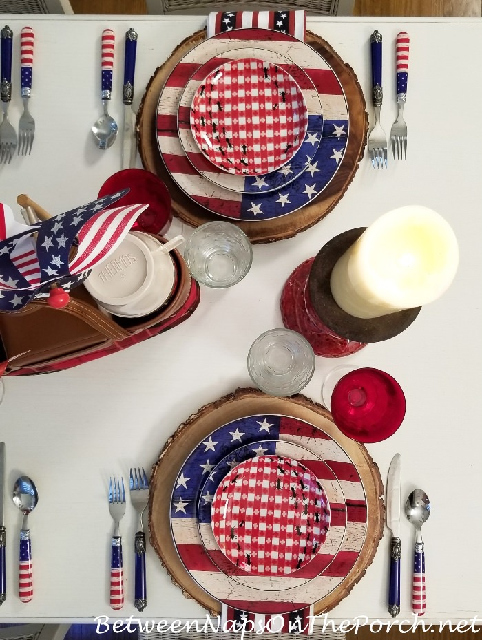 Flag Dinnerware for 4th of July, Warren Kimble, Colonial