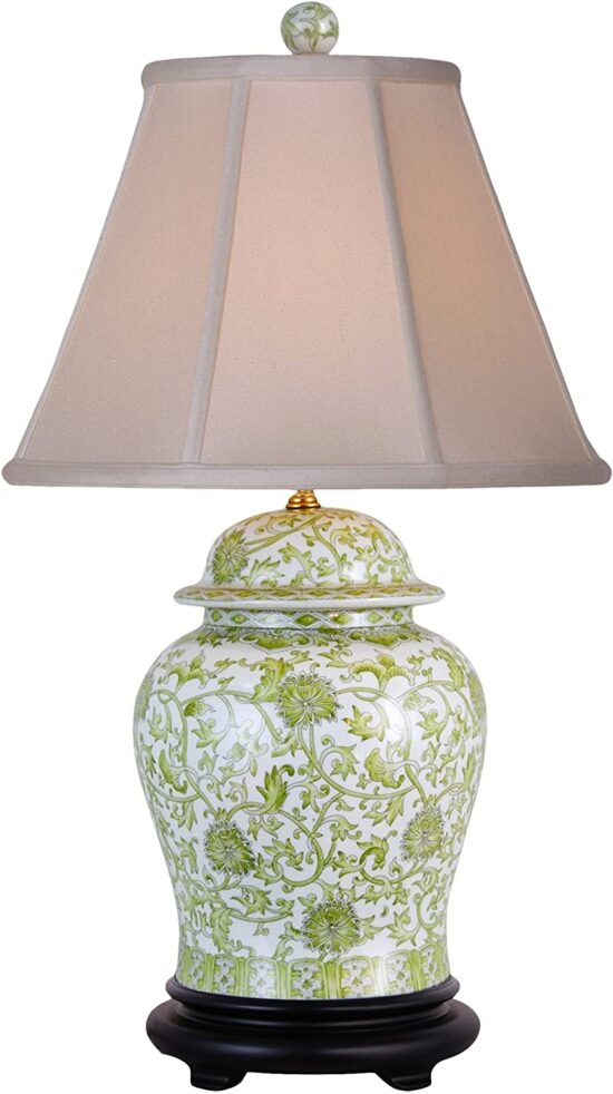 Green and White Lamp