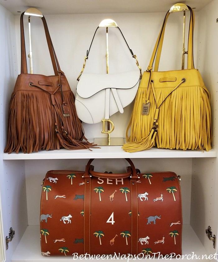Handbag Storage, Dior Saddlebag, Frye Heidi Fringe Bag